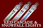 LED Cascade and Snowfall Lights