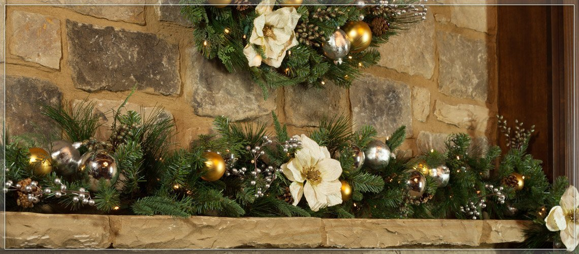 Decorative Garland with Rustic Look