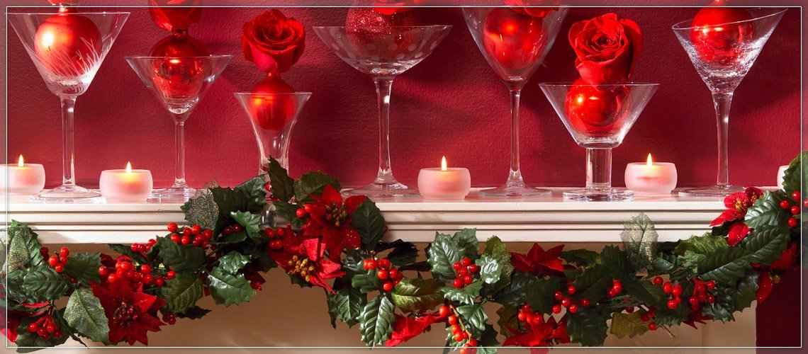 Draping Garland on the Mantel Technique