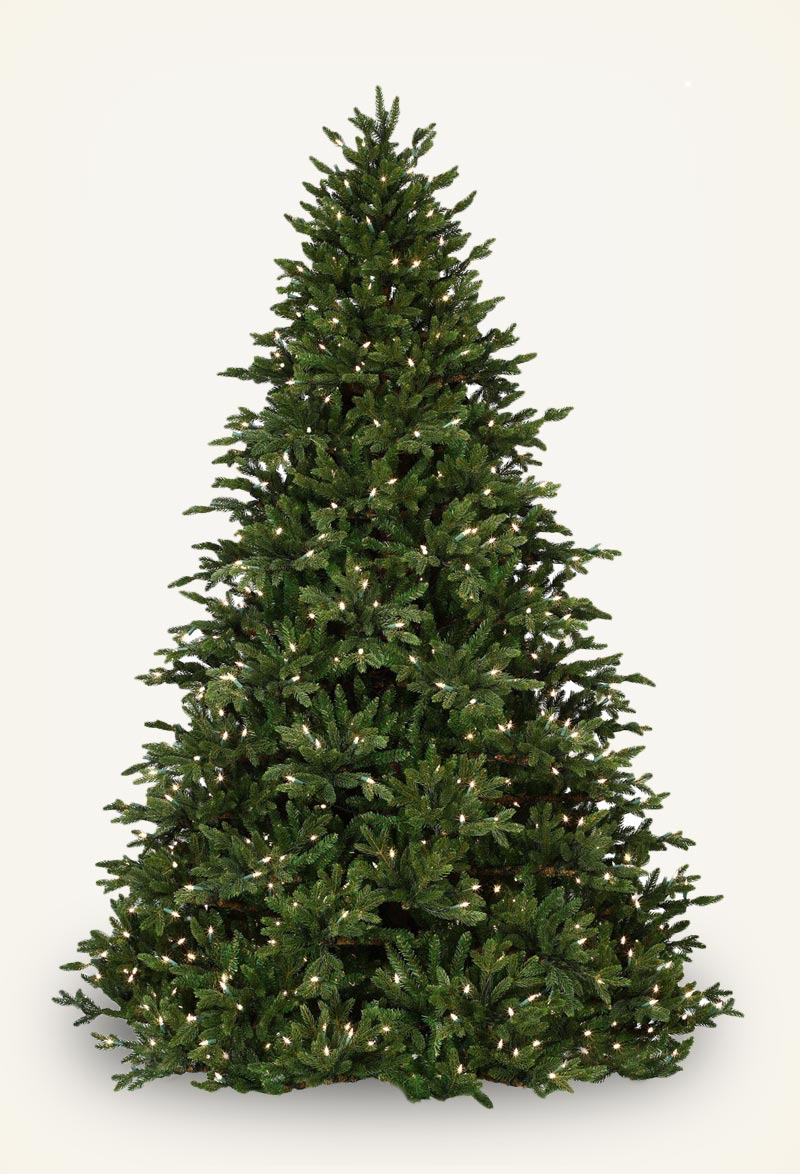 canadian fir prelit tree - Artificial Christmas Trees With Lights