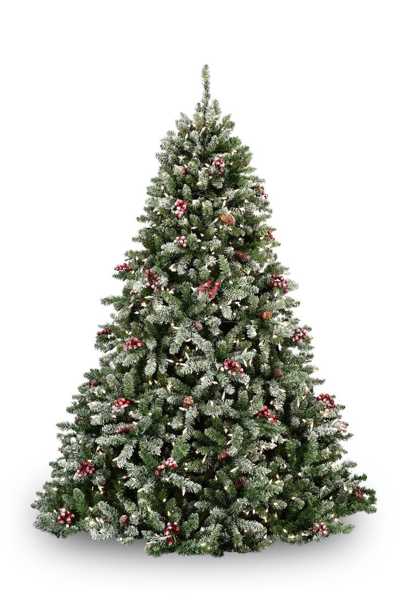 flocked hawthorne prelit tree - White Flocked Christmas Trees
