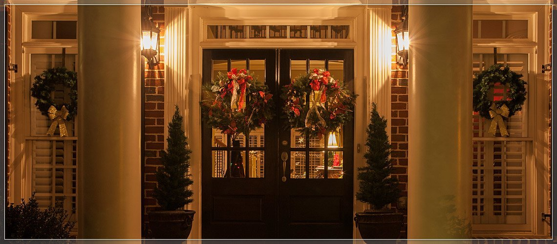 Decorate Double Doors with Two Wreaths