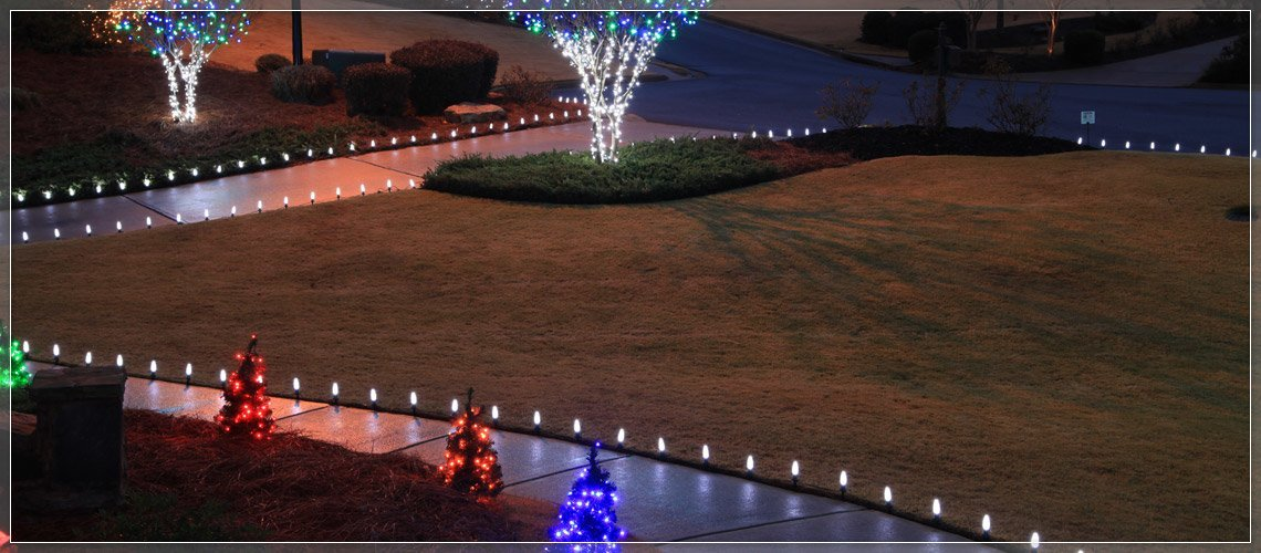 Light Up Driveways, Wrap Trees