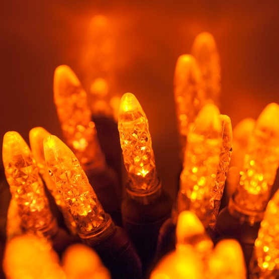 70 m5 amber led christmas lights 4 spacing