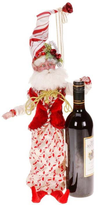 Candy cane fairy wine bottle cover