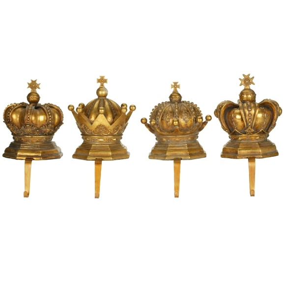 Nativity sets amp gifts crown stocking holders 4 piece set
