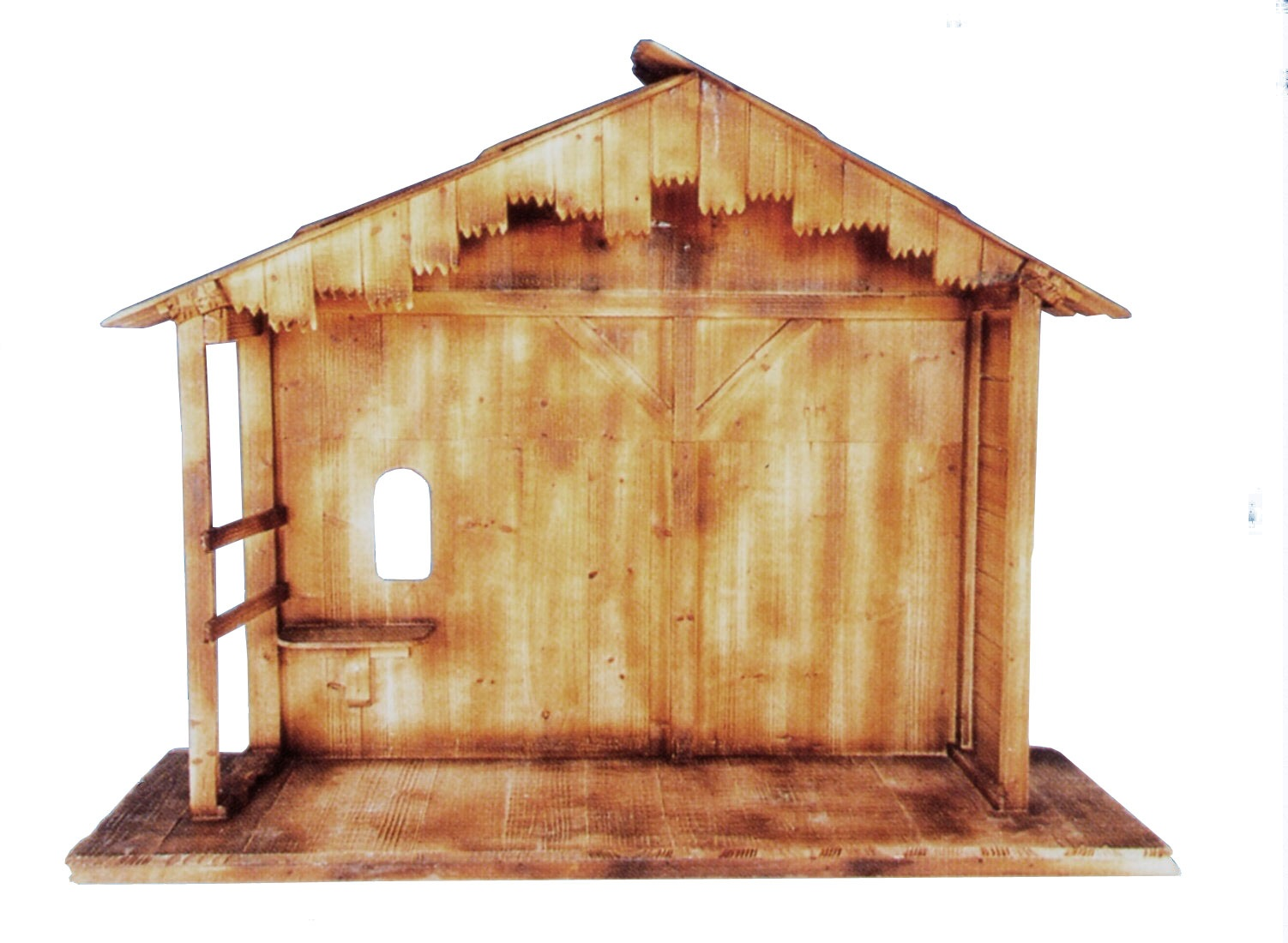 Wooden Christmas Nativity Stable