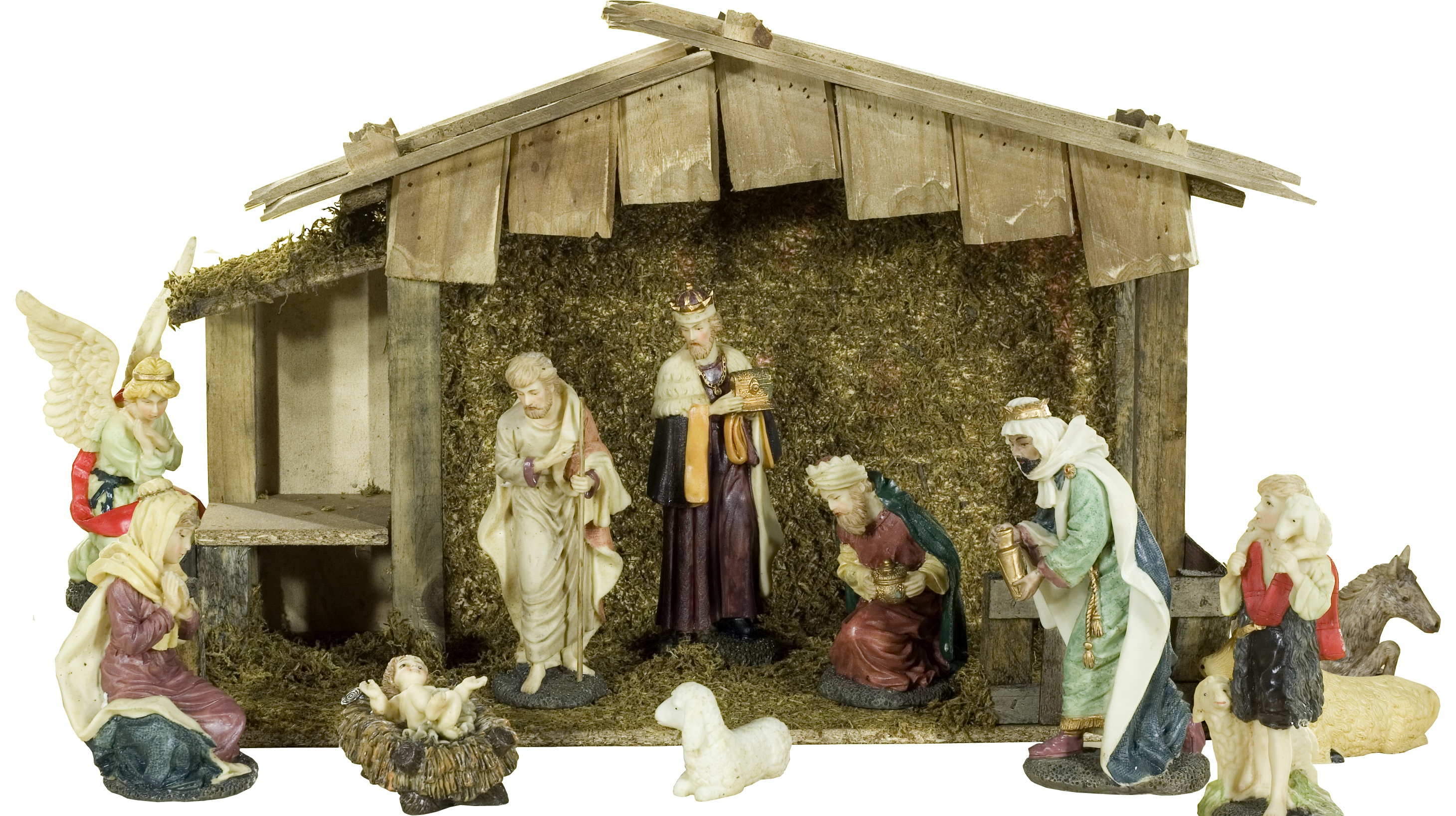 Outdoor Lighted Nativity Sets picture on 11 Piece Polyresin Nativity Set with 13H Wood Stable 21890 with Outdoor Lighted Nativity Sets, Outdoor Lighting ideas e09a0a2083ca253edb80920fc0cc43b9
