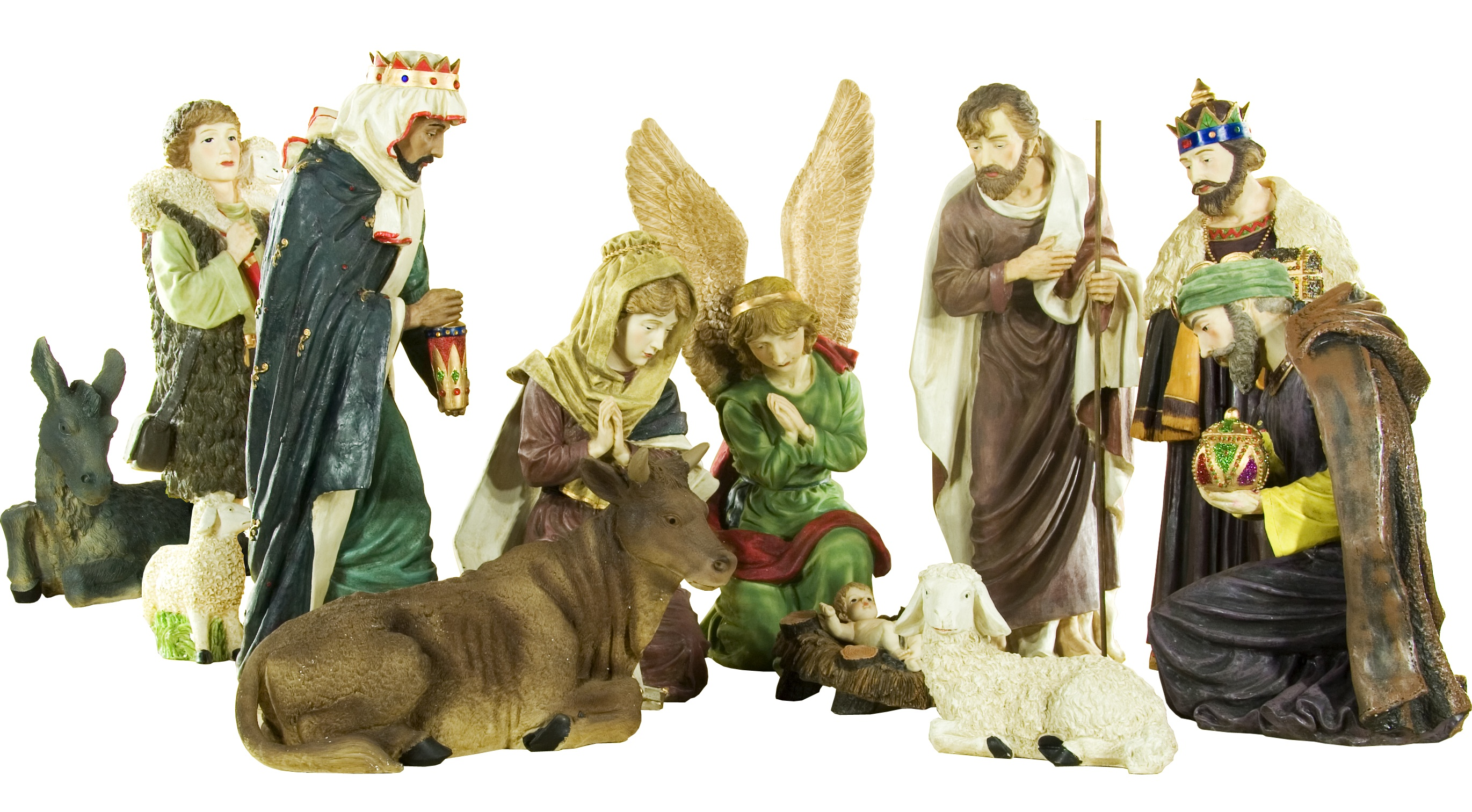 Large Christmas Nativity Set