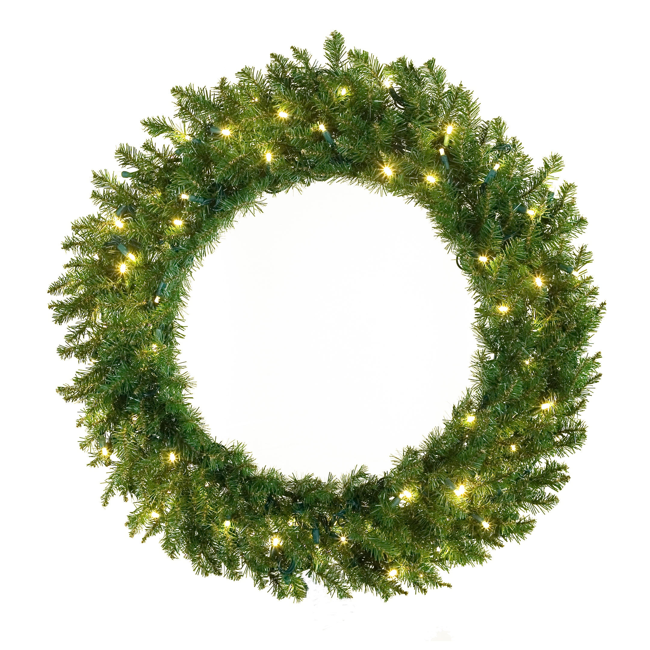 Prelit Norway Spruce LED Wreath with Warm White Bulbs