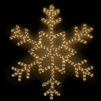 Glowing Snowflake Rope Light