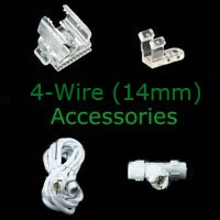 Rope Light Accessories and Controllers for 4 wire rope light