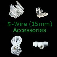 Rope Light Accessories and Controllers for 5 wire rope light