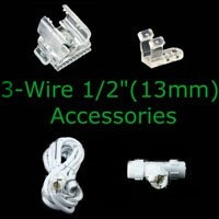 Rope Light Accessories and Controllers for 3 wire rope light