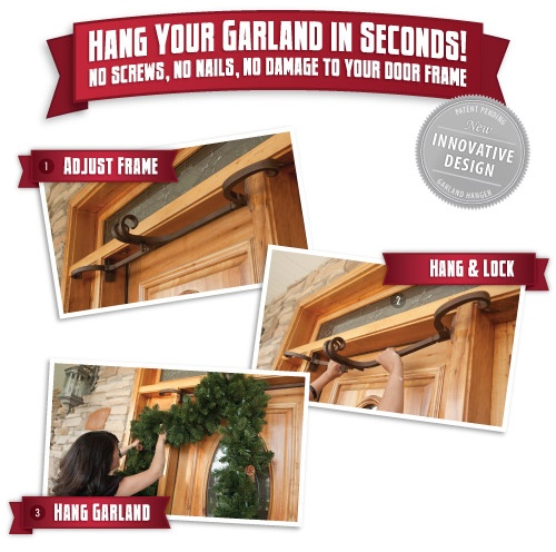 How to hang garland step by step