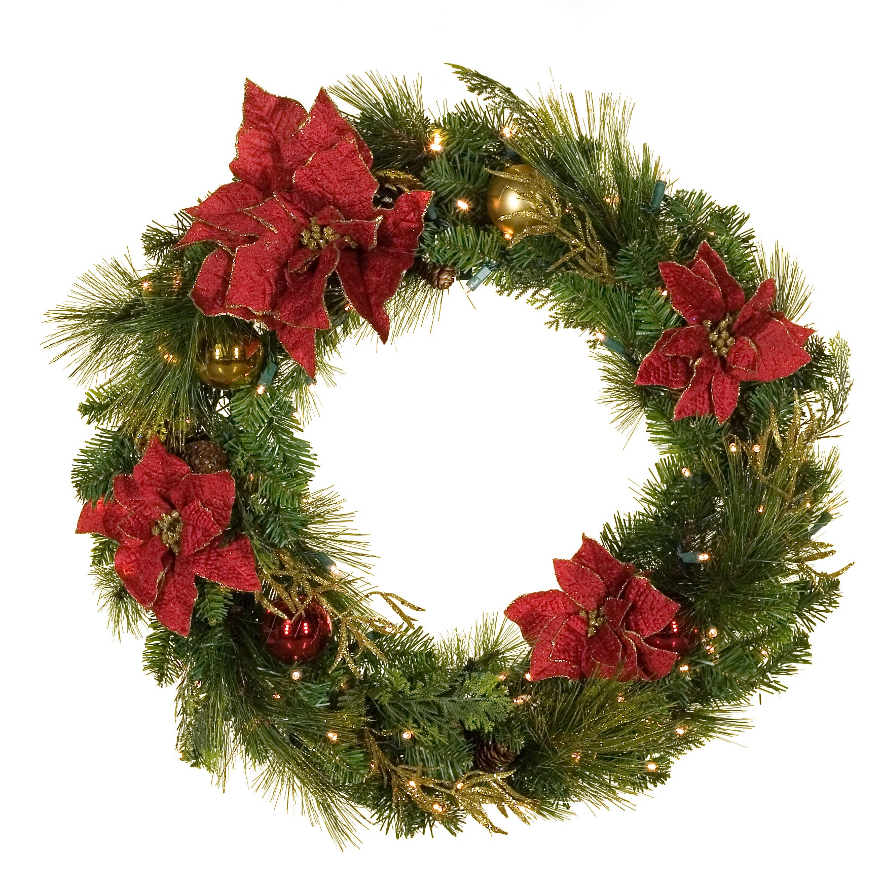 Battery operated outdoor christmas xmaspin for Christmas wreath