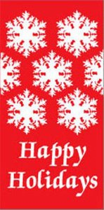 Snowflakes Happy Holidays Banner