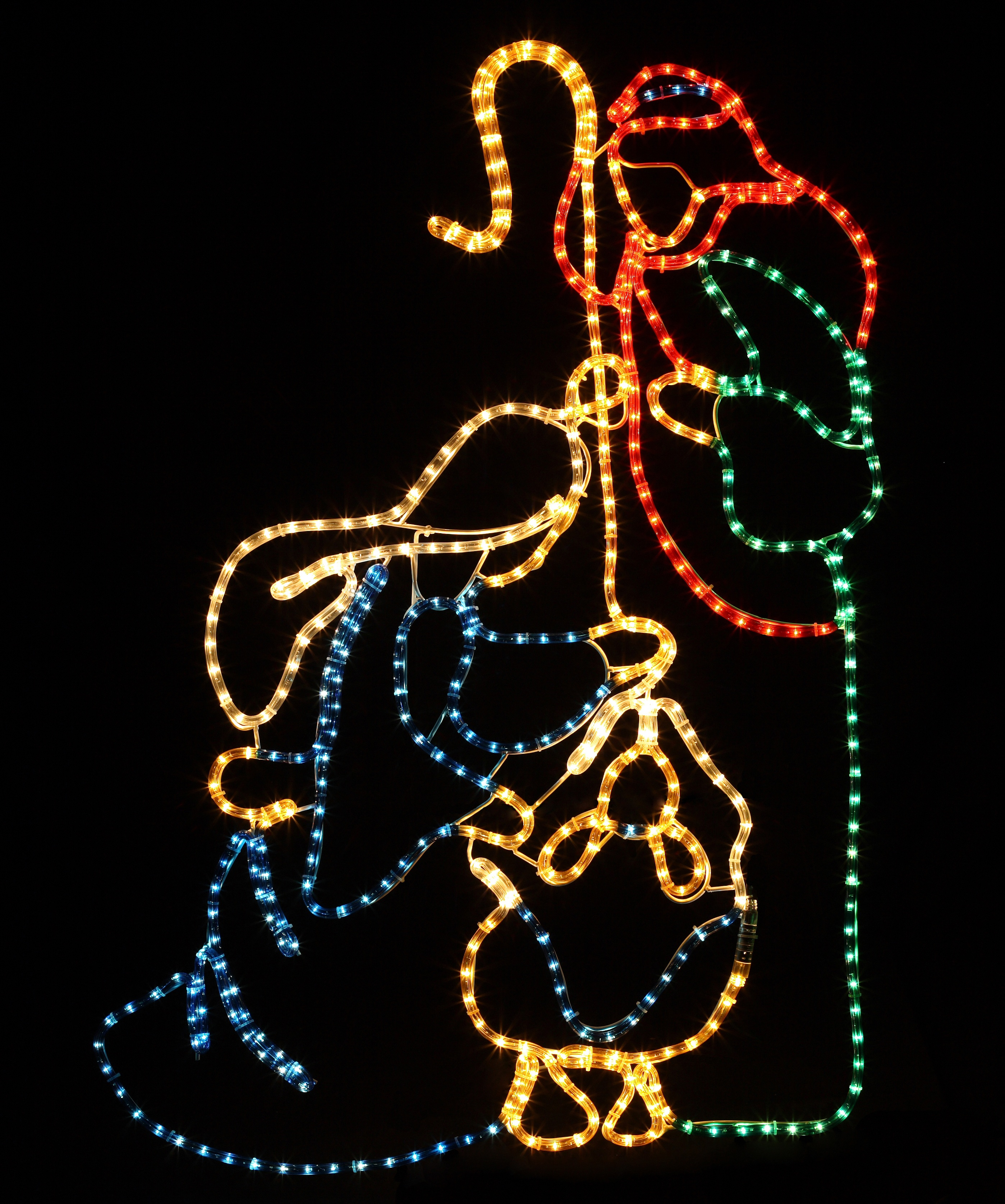 """Rope Light Sculptures 48"""" x 32"""" LED Holy Family"""
