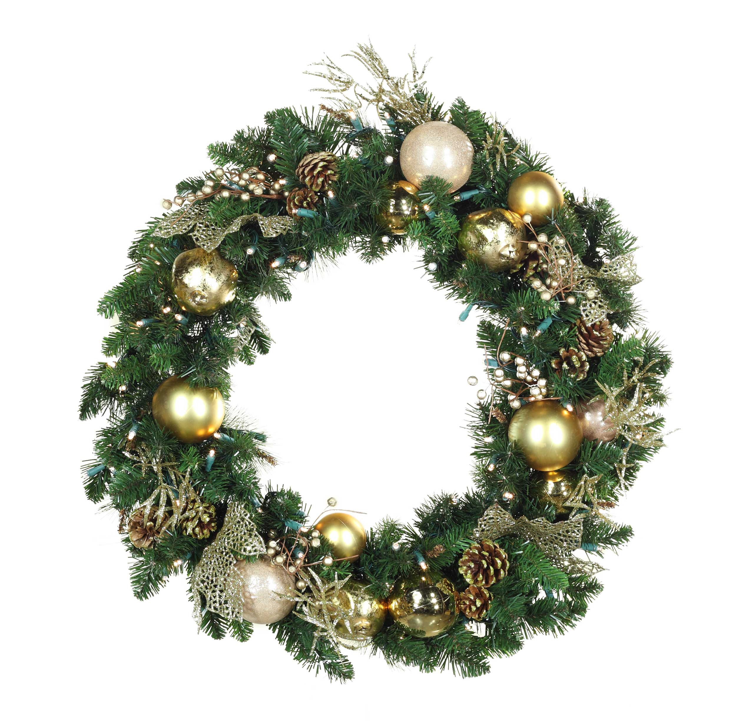 decorative wreaths royal gold battery operated led. Black Bedroom Furniture Sets. Home Design Ideas