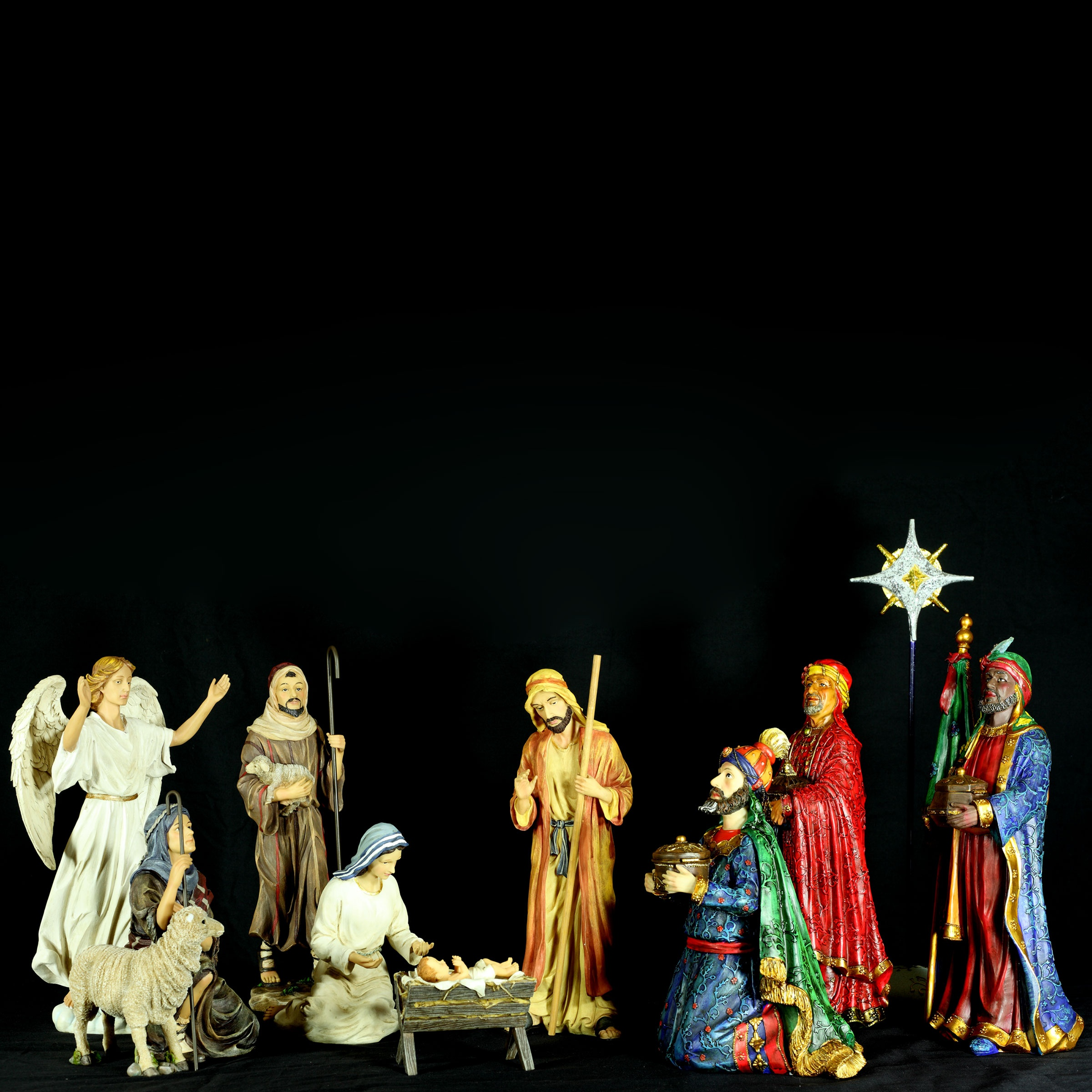 Three Kings Complete Nativity Set