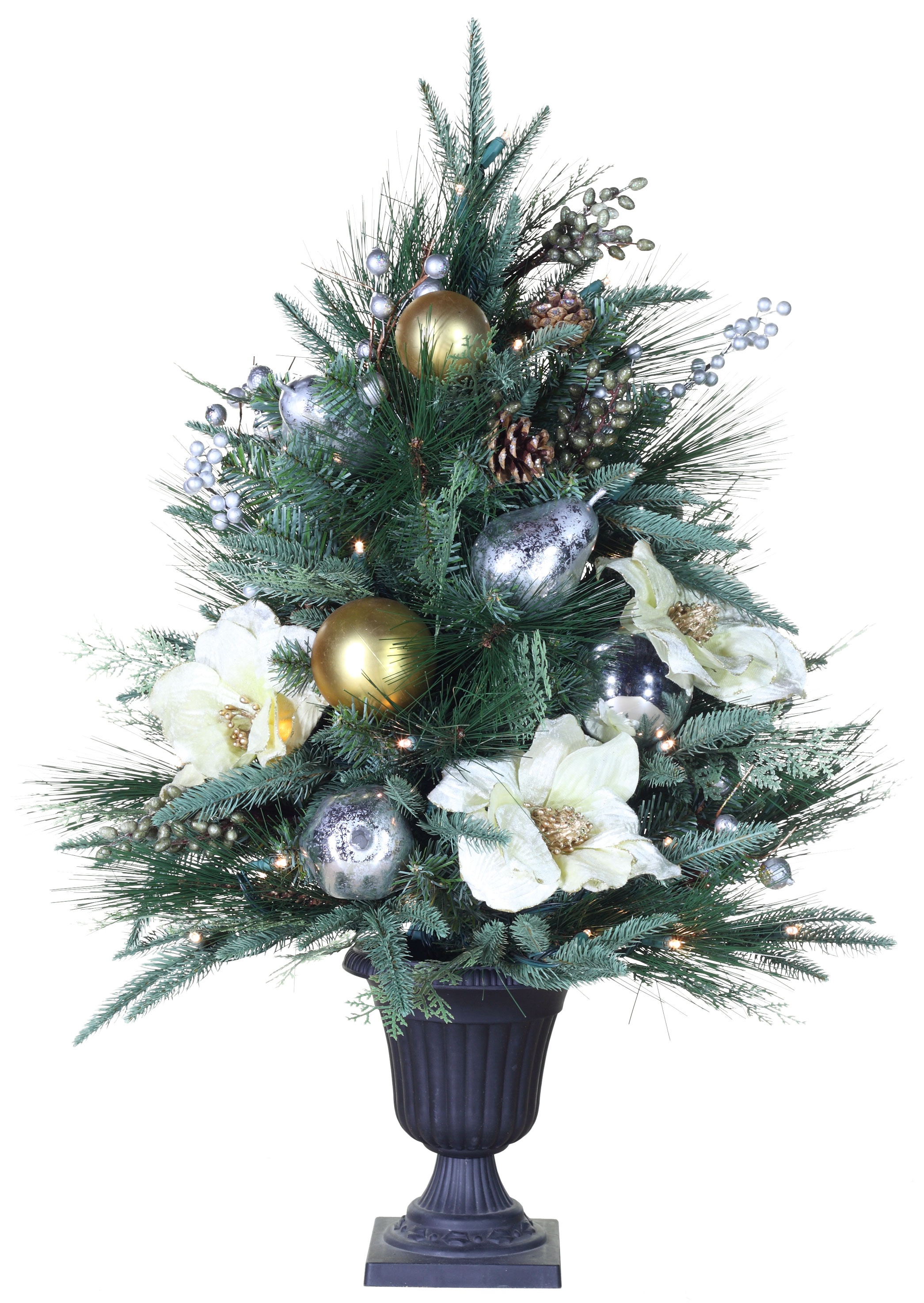 Aspen Silver Tabletop Christmas Tree