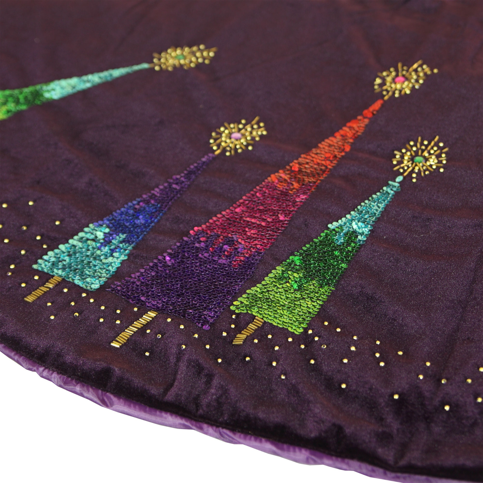 Purple Razzberry Velvet Tree Skirt
