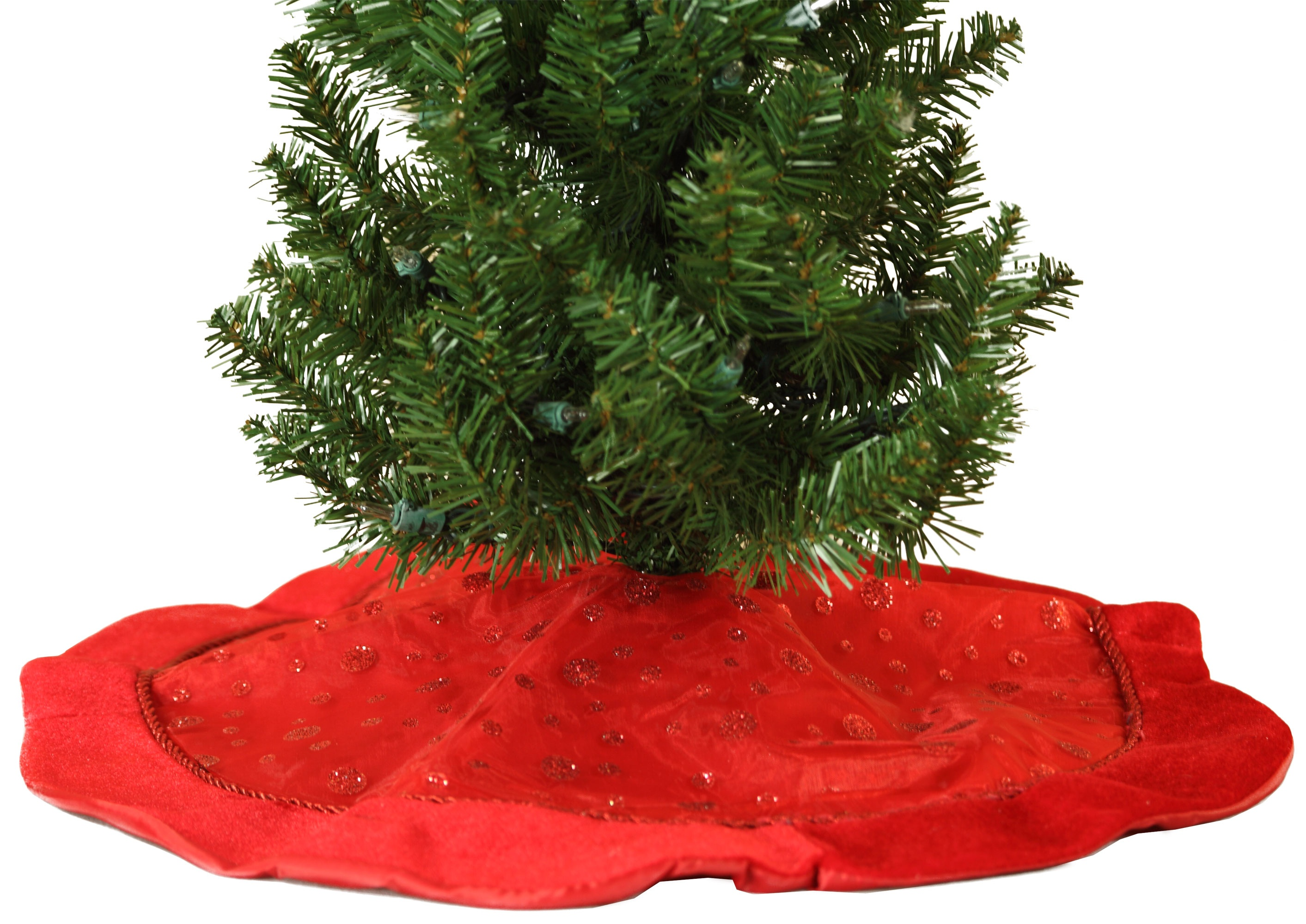 Bright Red Mini Christmas Tree Skirt