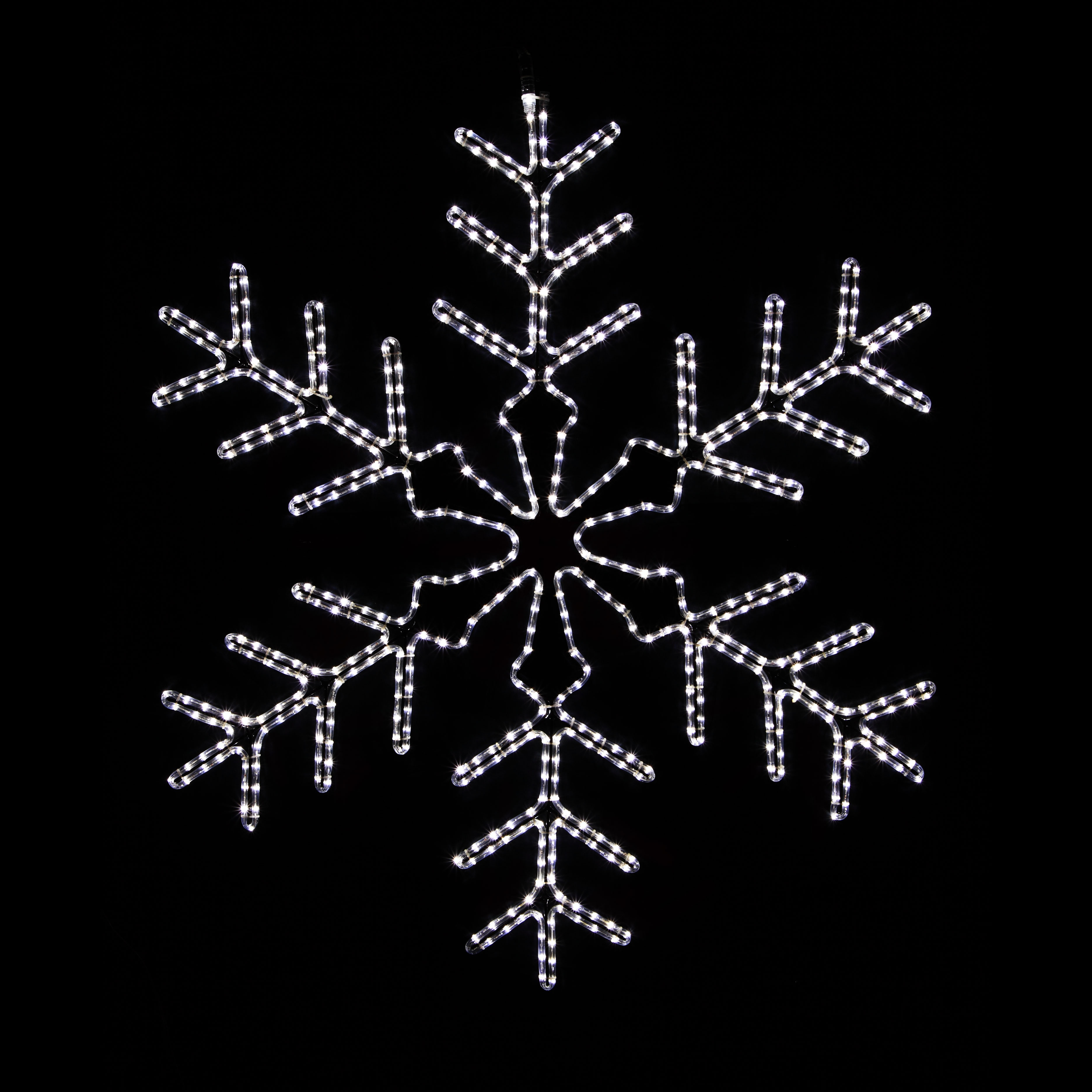 Snowflakes & Stars 4 LED Lighted Snowflake Outdoor