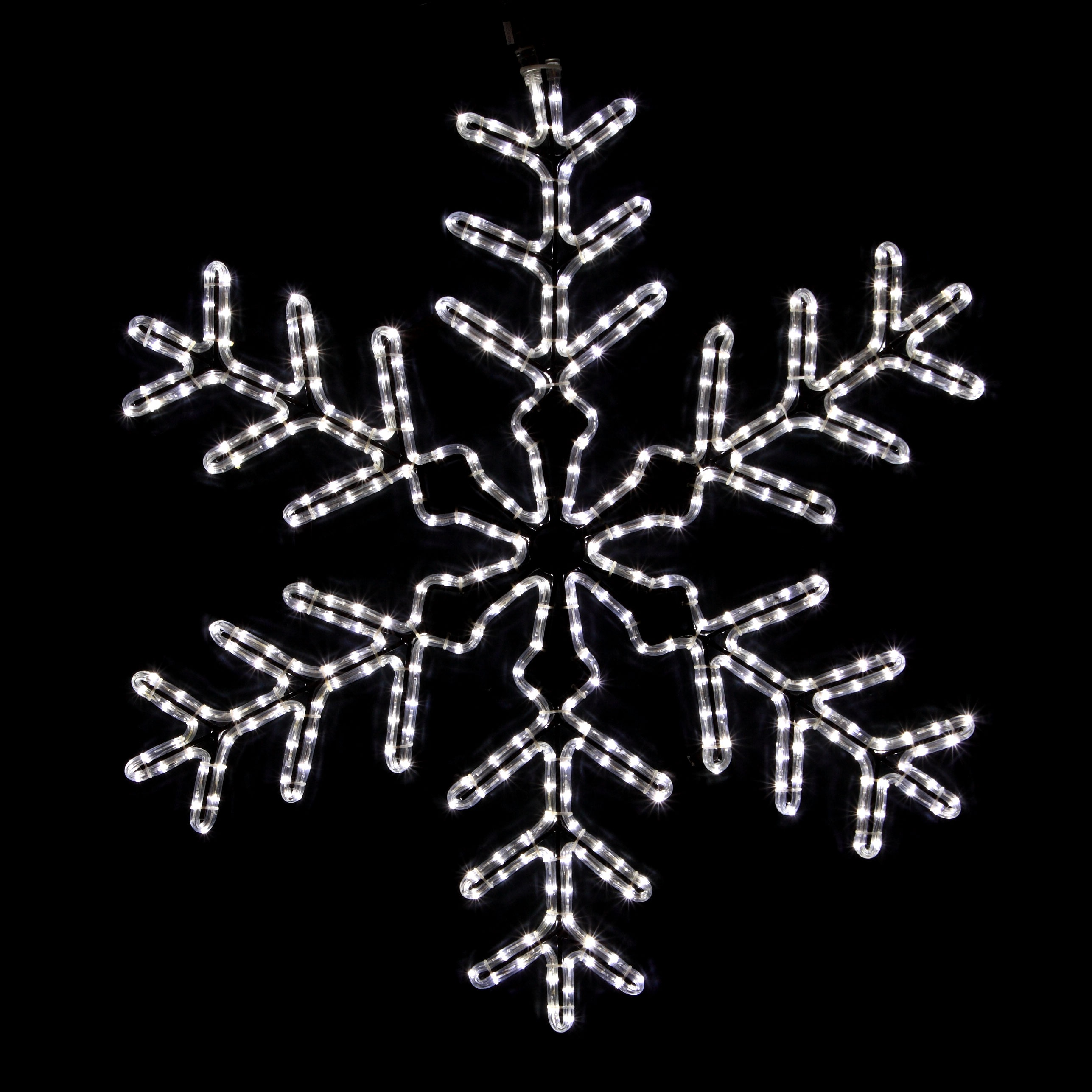 LED white snowflake motif