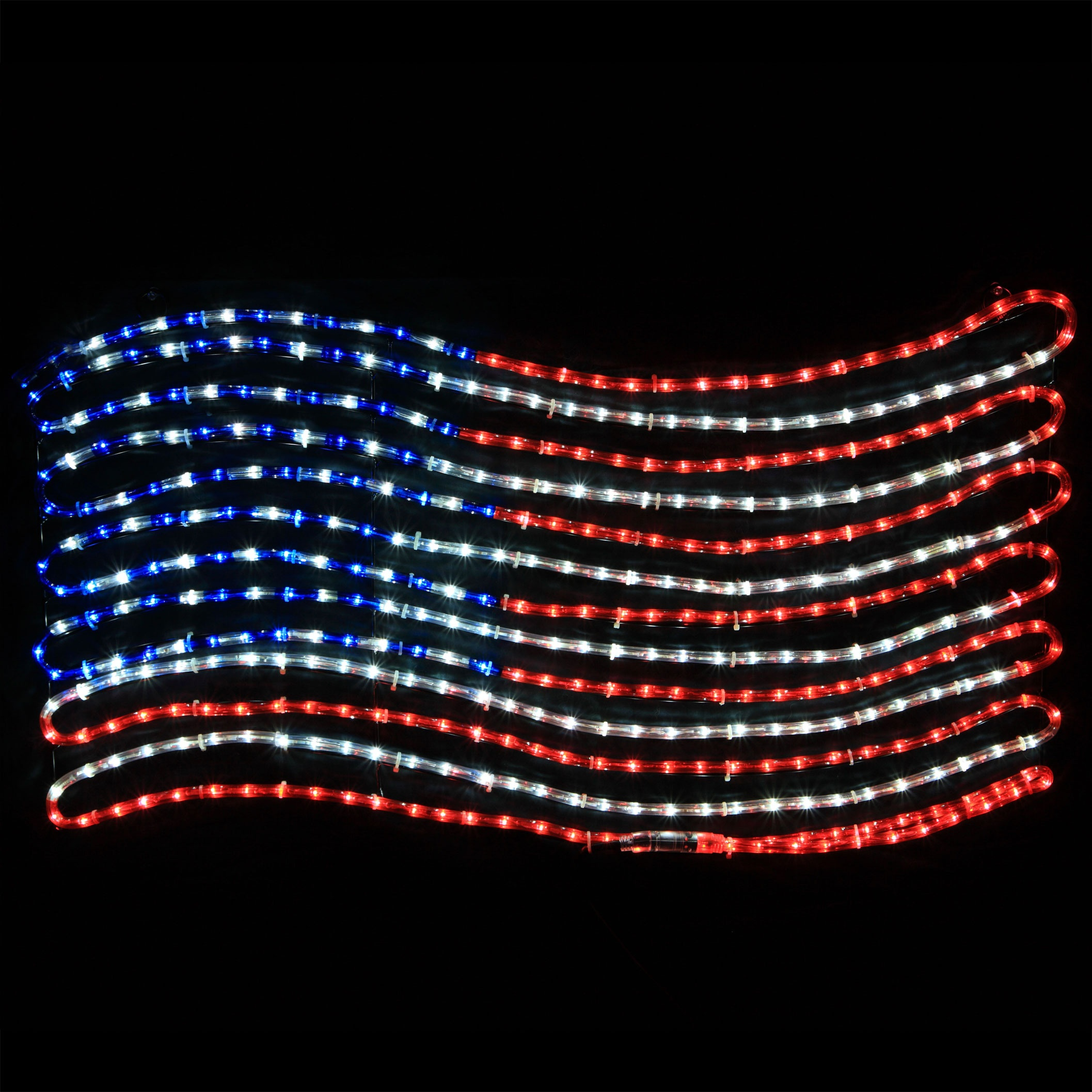 led patriotic flag motif