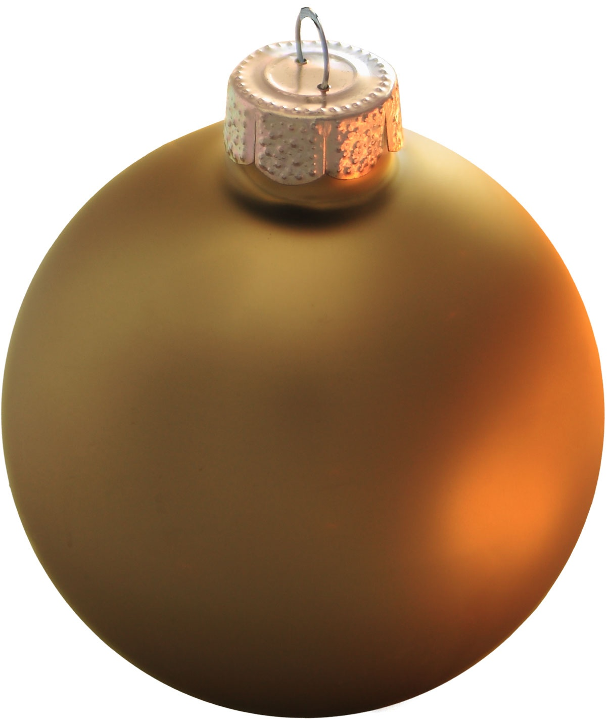 Antique gold ball ornament matte
