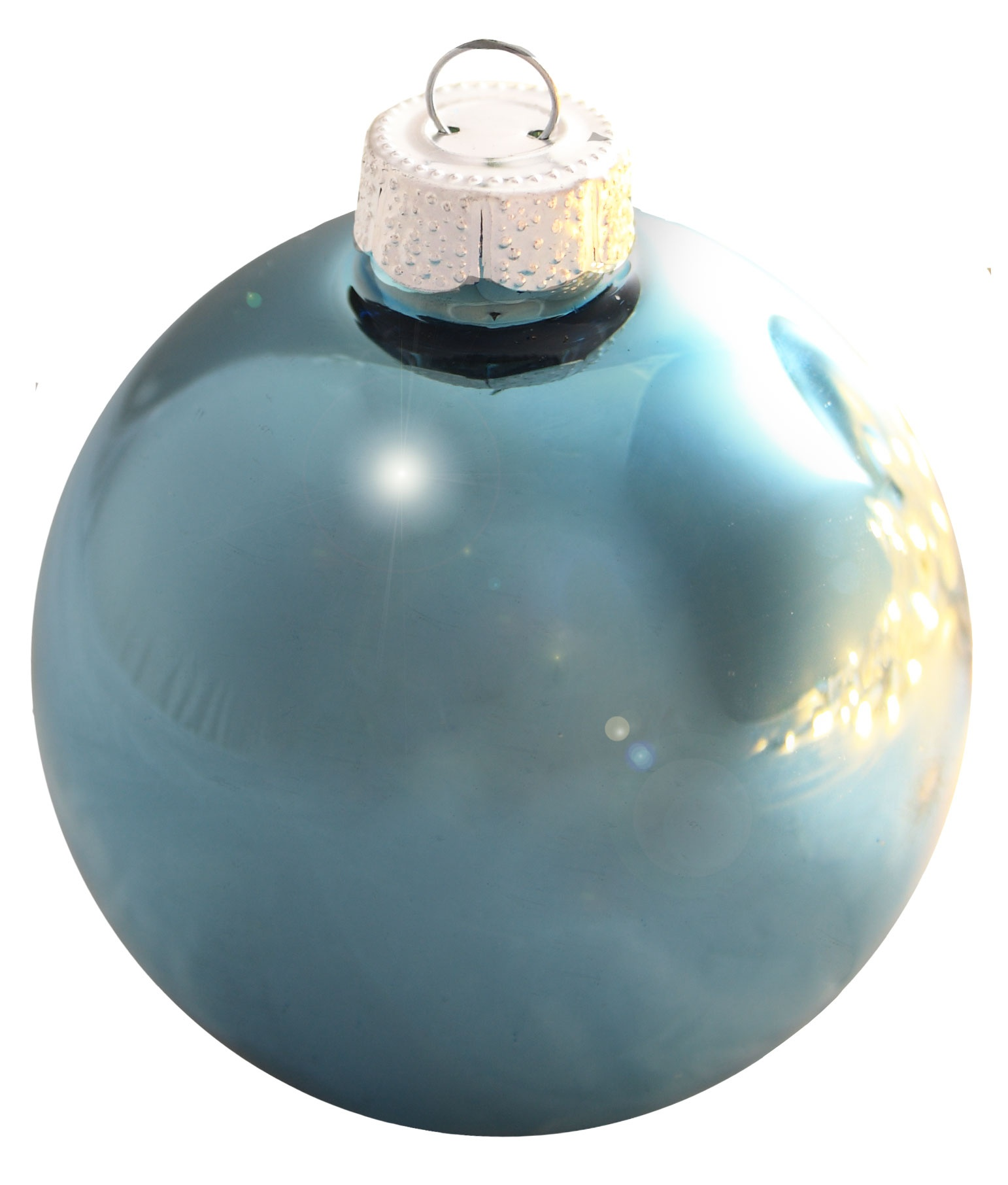 Baby blue shiny ornament
