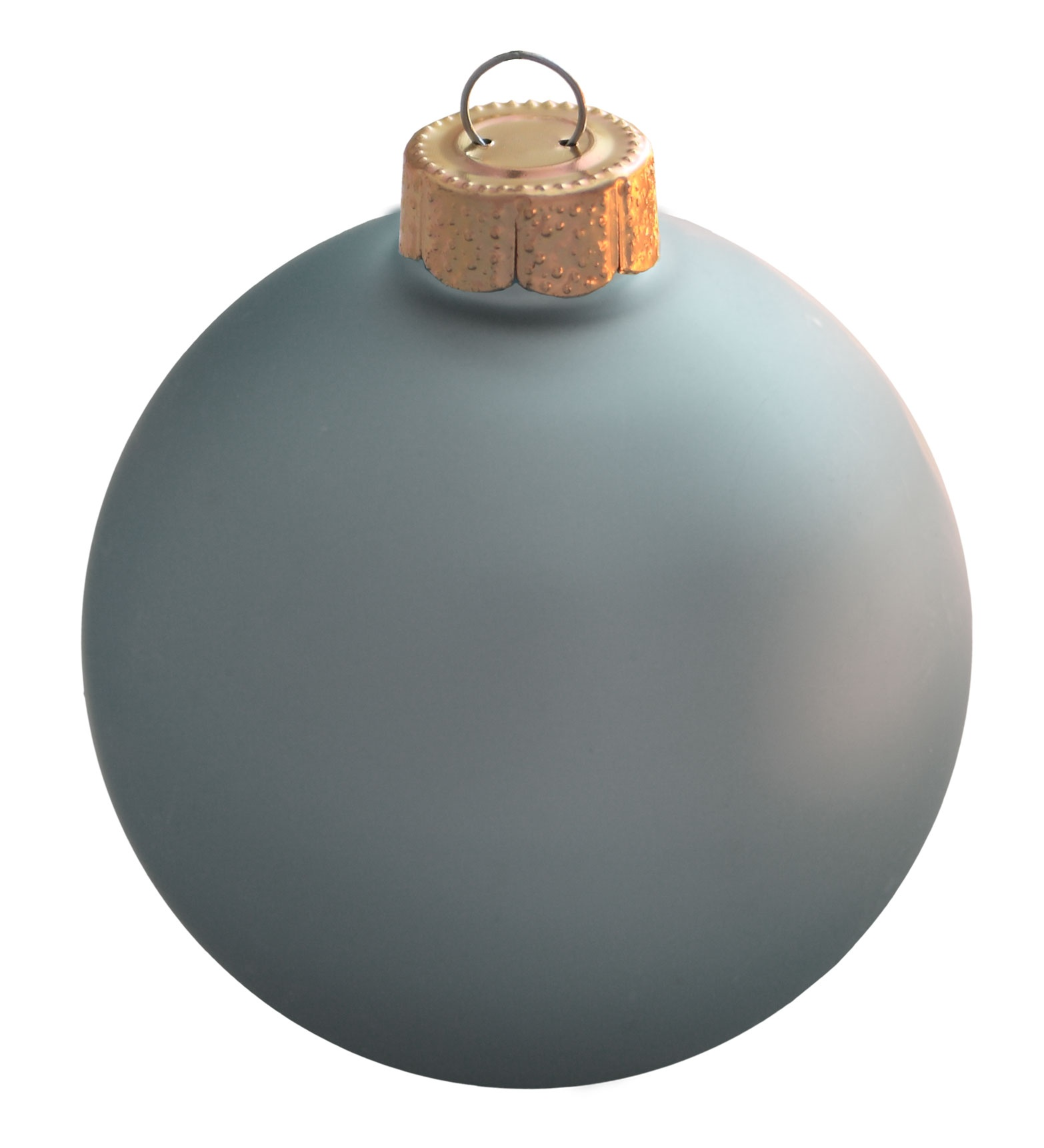 Baby blue matte ornament