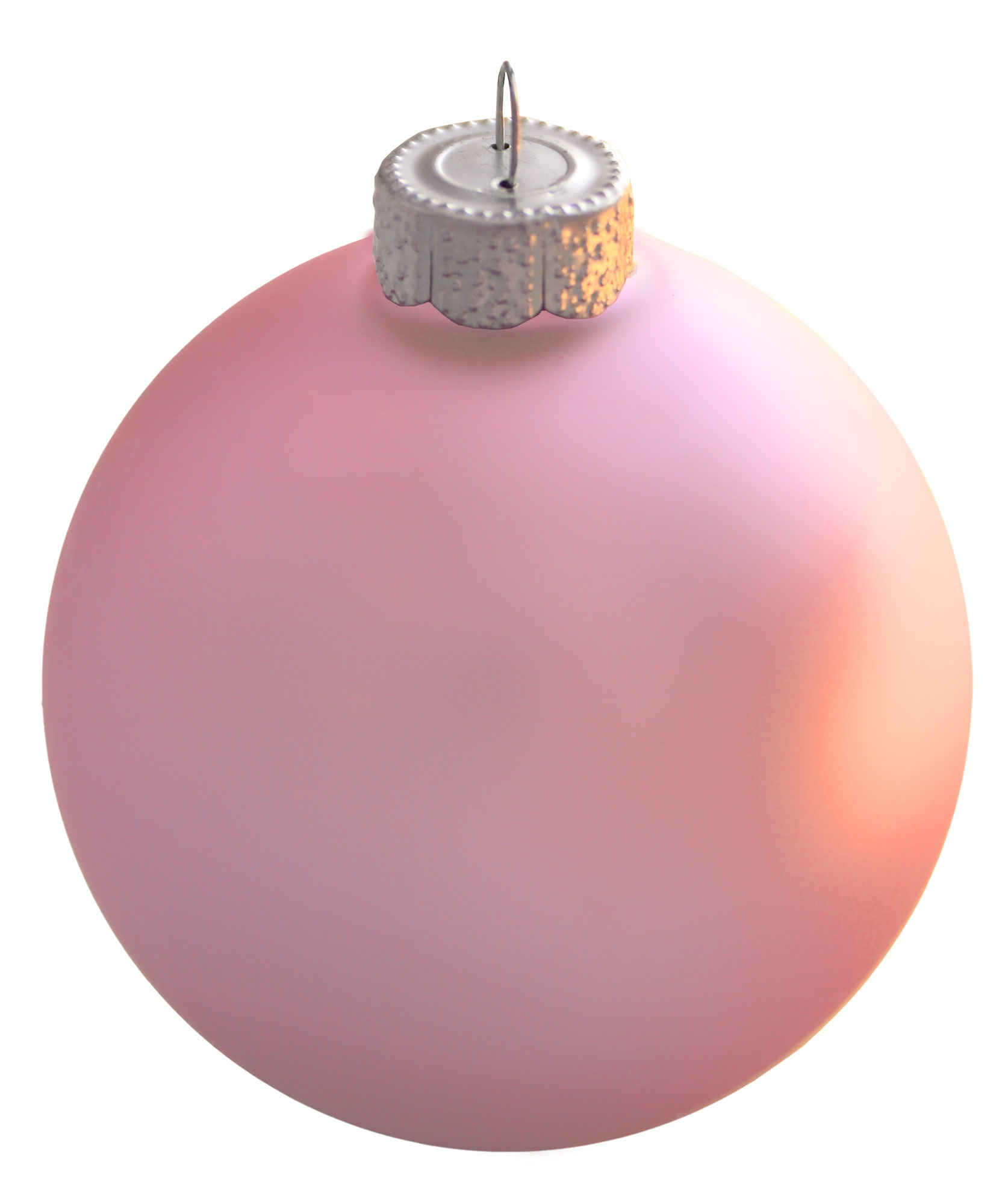 Christmas decorations 2 baby pink ball ornament matte for Pink christmas decorations