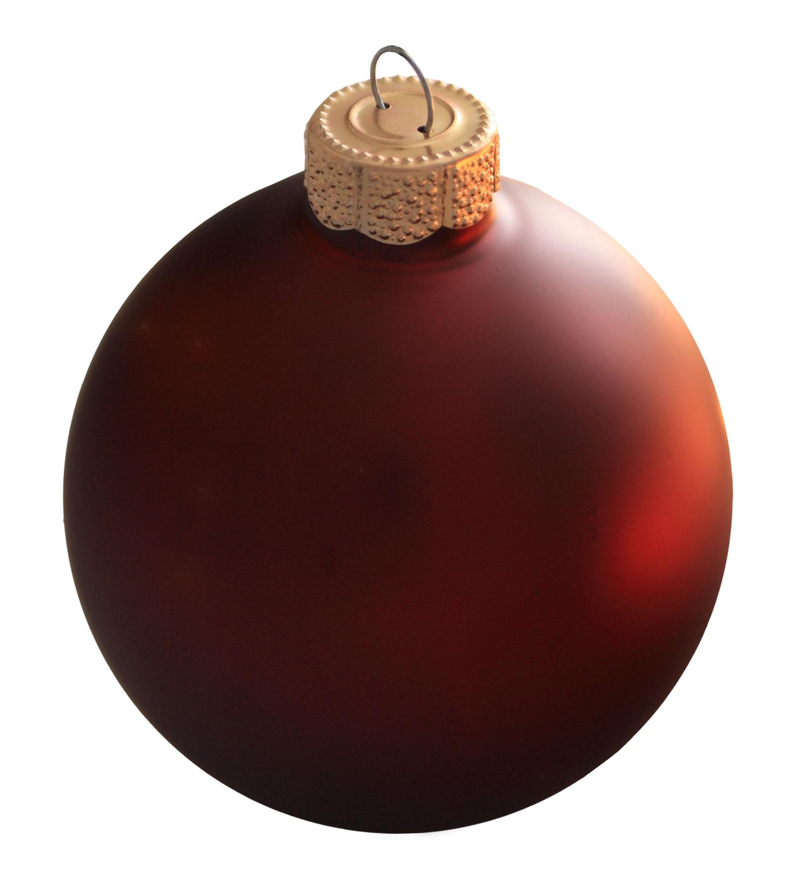 "2"" Burgundy Ball Ornament"