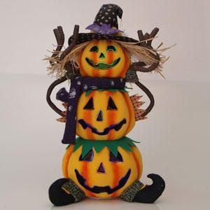 Fiber optic animated pumpkin decoration