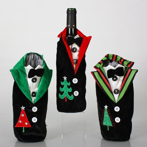 Tuxedo Wine Bottle Holders