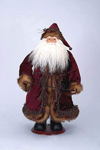 Burgundy Santa Wine Holder