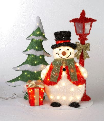 Snowman Christmas Tree Outdoor Decoration