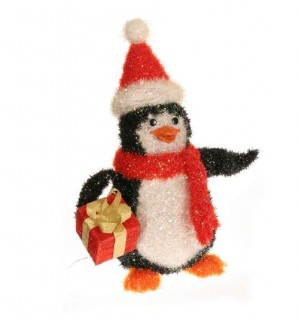 Tinsel Penguin Outdoor Decoration