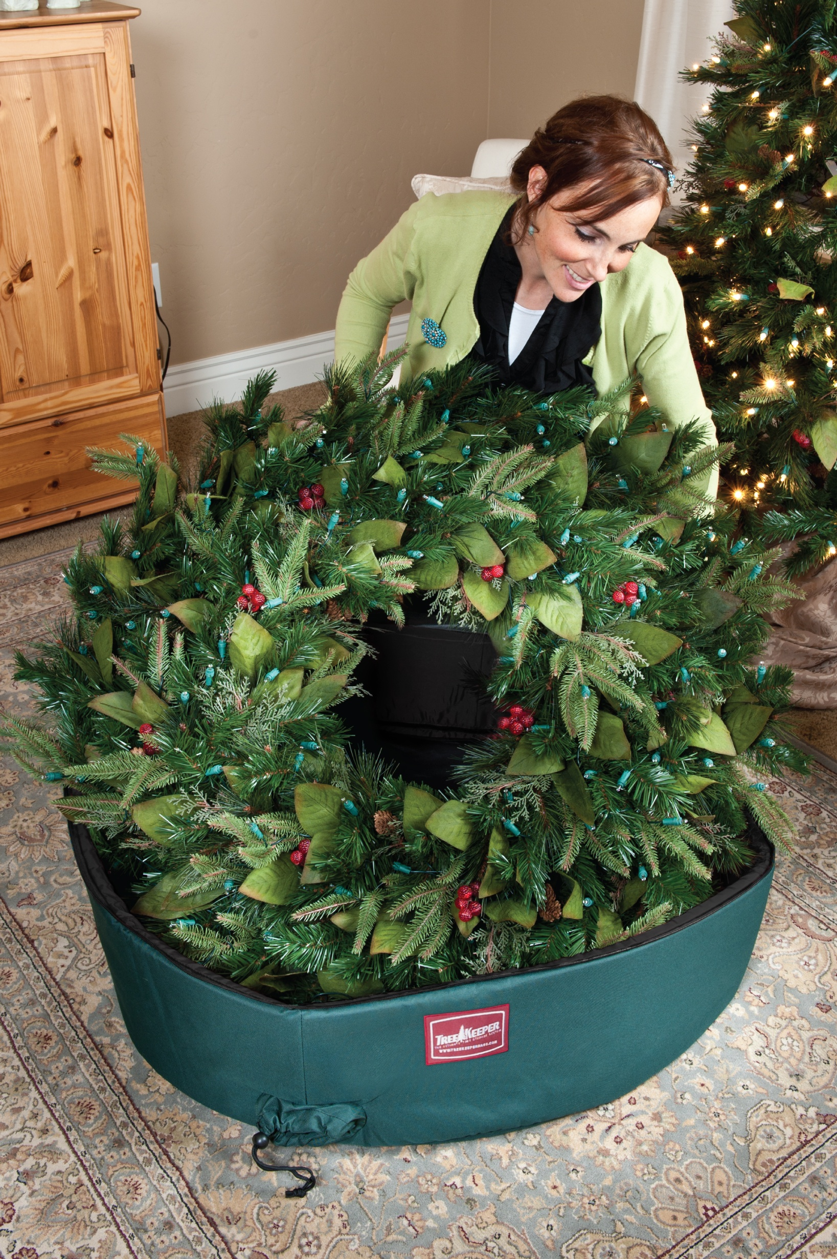 wreath storage bag