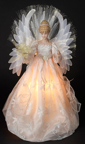ivory angel tree topper