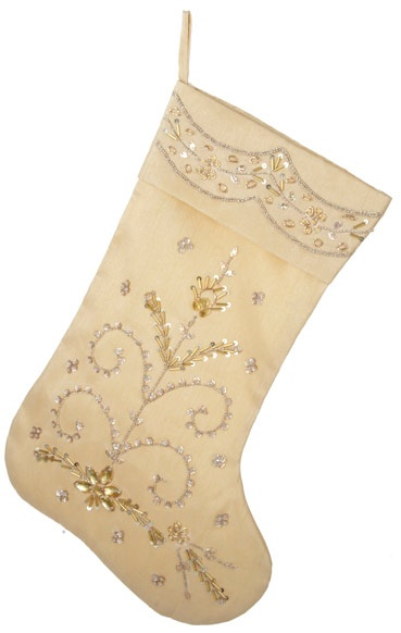 gold Christmas stocking