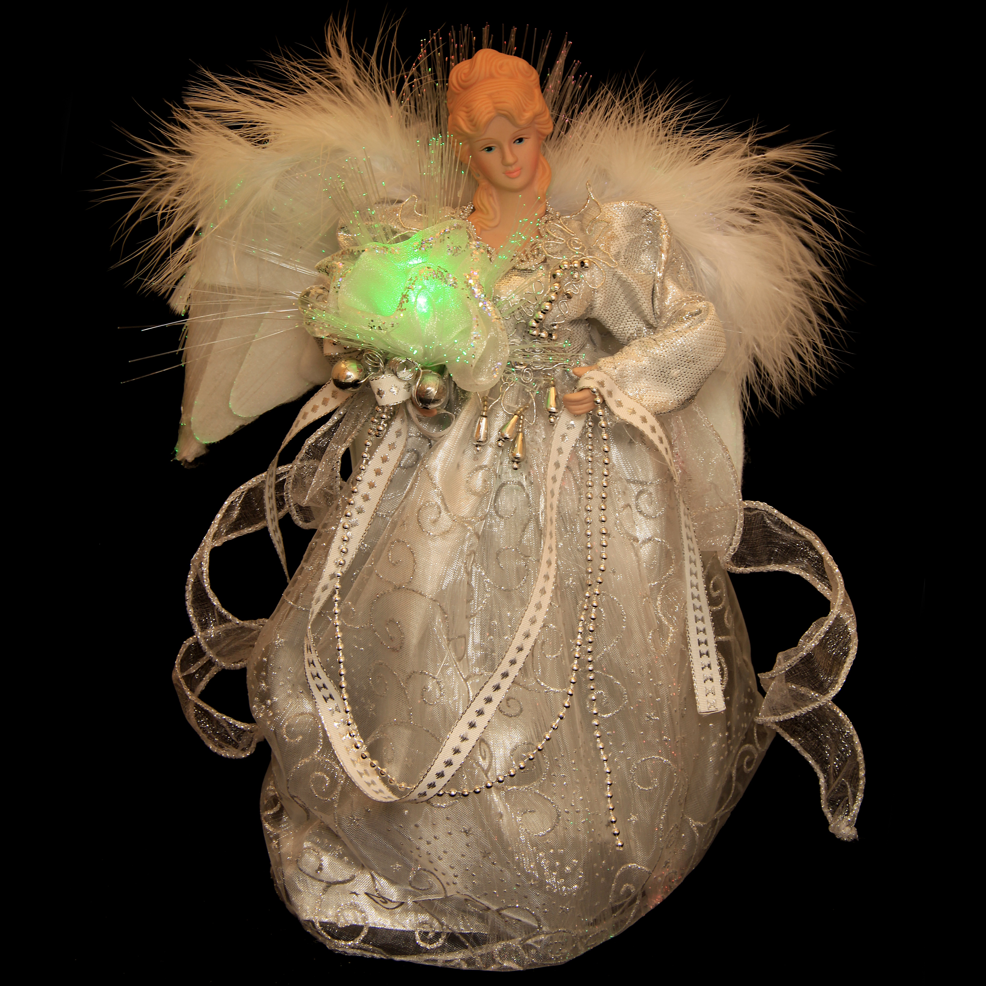 Fiber Optic Angel Silver Dress