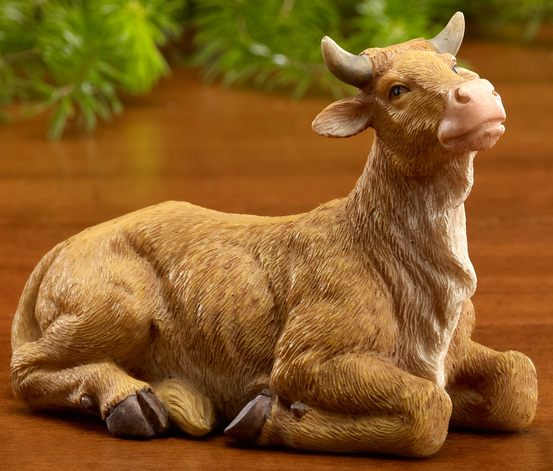 cow in nativity set