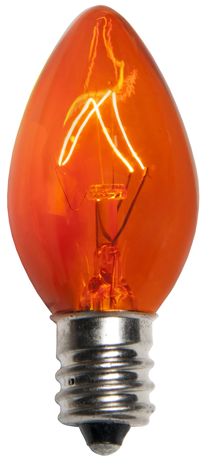 C7 Amber Transparent Incandescent Bulb