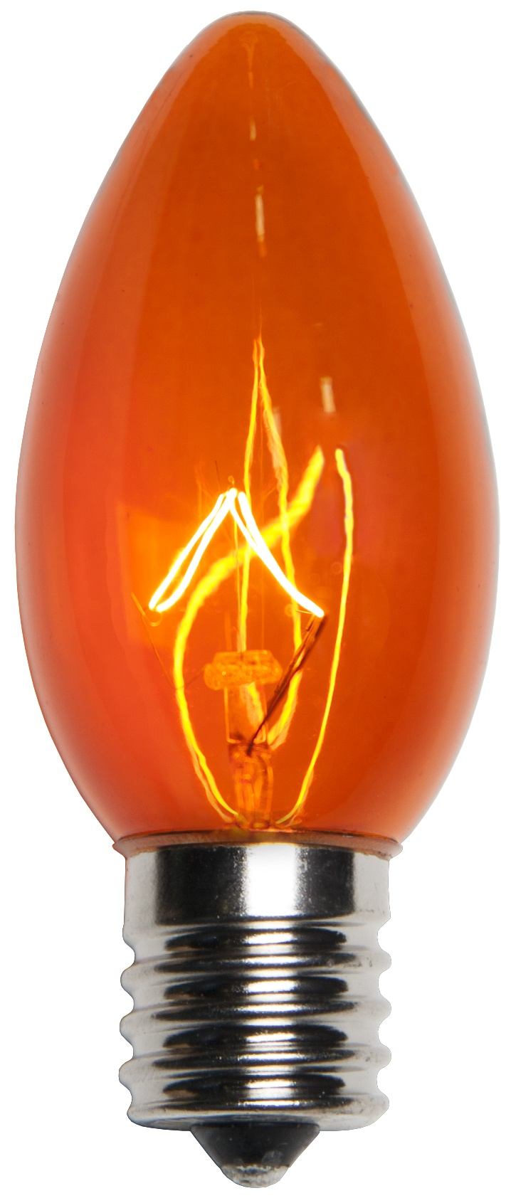 C9 Amber Transparent Incandescent Bulb