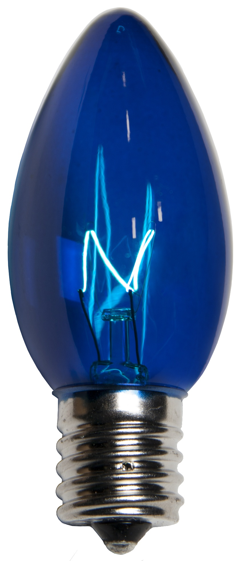 C9 Blue Transparent Incandescent Bulb