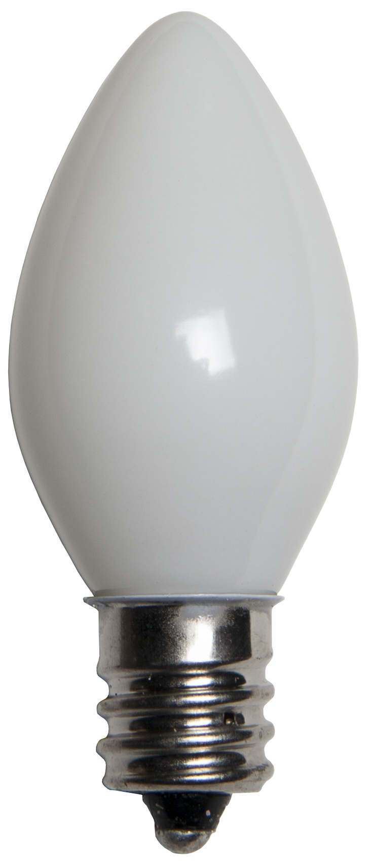 C7 White Opaque Incandescent Bulb