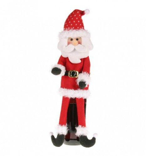 TJ Collection Santa Wine Bottle Cover